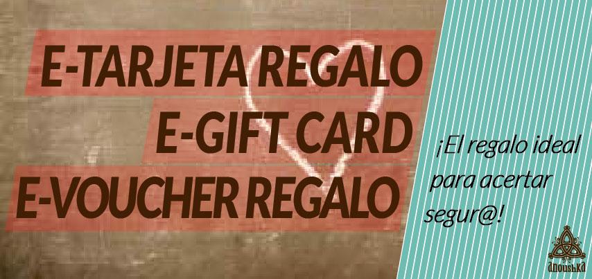 Tarjeta regalo para comprar ropa online