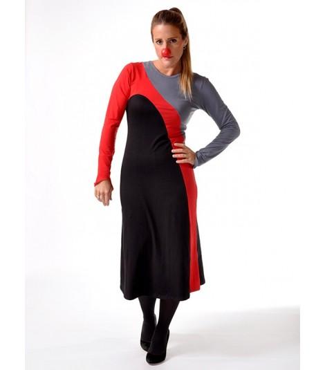 TRICOLOURED DRESS