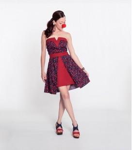 Dress Uve Short Bordeaux