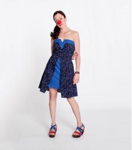 Vestido V Short Azul