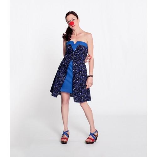 Dress V Short Blue