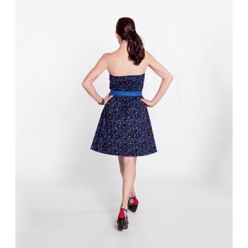 Vestido Uve Short Azul