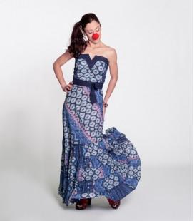 Vestido V Long Azul