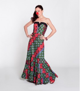 Dress V Long Multicolor