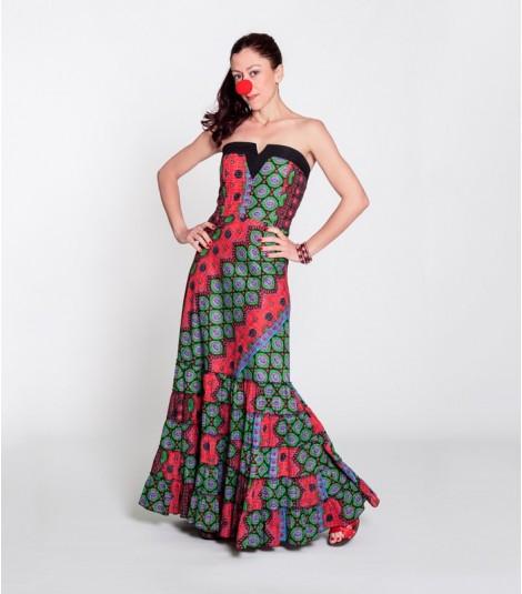 Dress Uve Long Multicolour