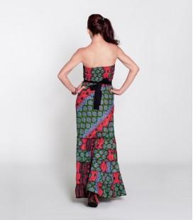 Vestido Uve Long Multicolor