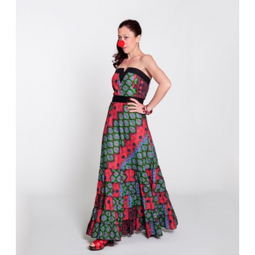Dress Uve Long Multicolour