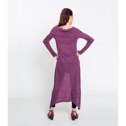 JERSEY DRESS PLUM