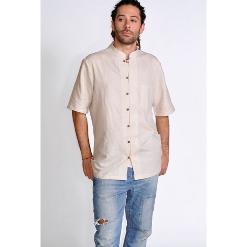 SHIRT LINO CREAM
