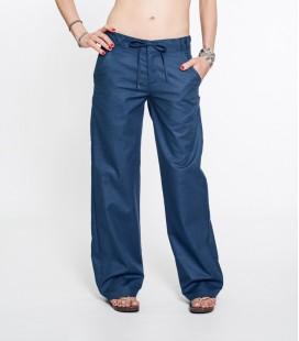 BLUE ARTI LINEN PANTS