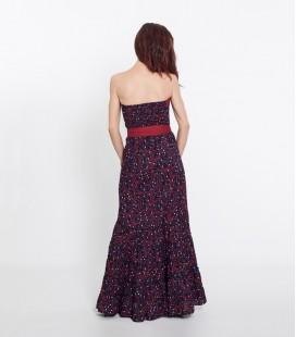 Dress V Long Blue