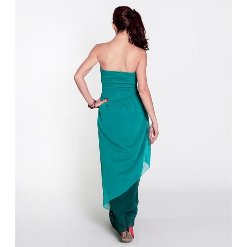 TURQUOISE CASCADA DRESS LONG