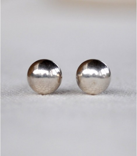PEARL STERLING SILVER STUD ETHNIC EARRINGS
