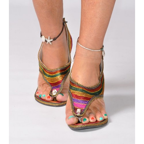 ETHNIC SANDALS  STRIPES