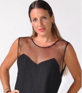 BUCLA DRESS BLACK NET