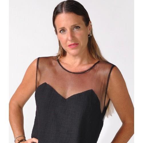 BUCLA DRESS BLACK NET