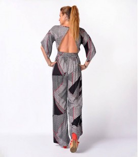 LONG BACLKLESS ETHNIC JUMPSUIT
