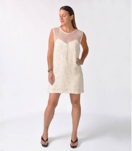 CREAM BUCLA DRESS NET
