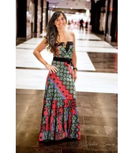 Dress V Long Multicolor