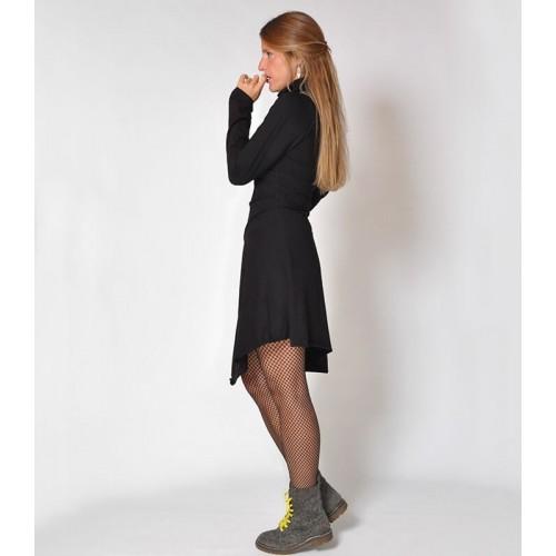 CABLES PIXIE BLACK WINTER DRESS