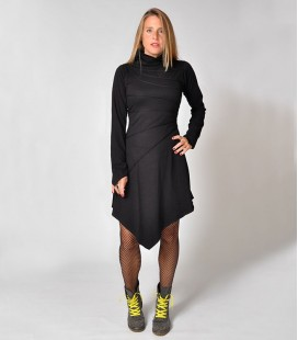 CABLES PIXIE BLACK WINTER DRESS