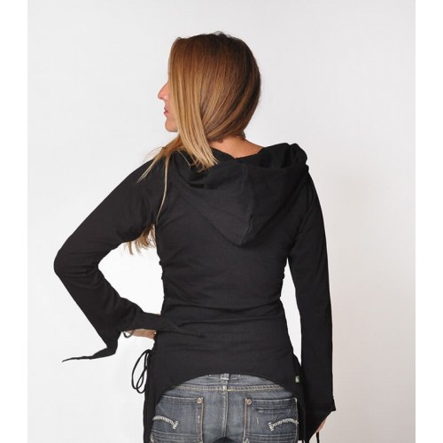 PIXIE HOODIE BLACK T-SHIRT
