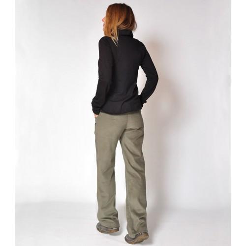 CORDUROY STRAIGHT GREEN PANTS