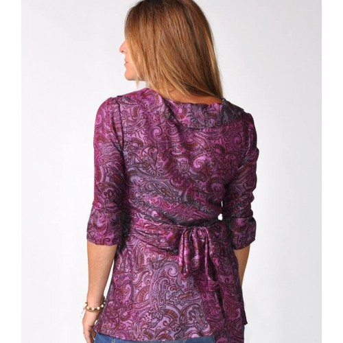 NAA TOP SILK WRAPSHIRT