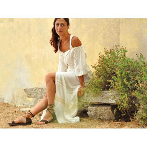 ROMANTIC LACE MAXI DRESS WHITE