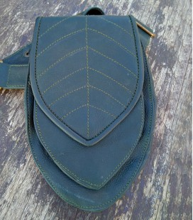 GENUINE LEATHER FANNY PACK LEAF