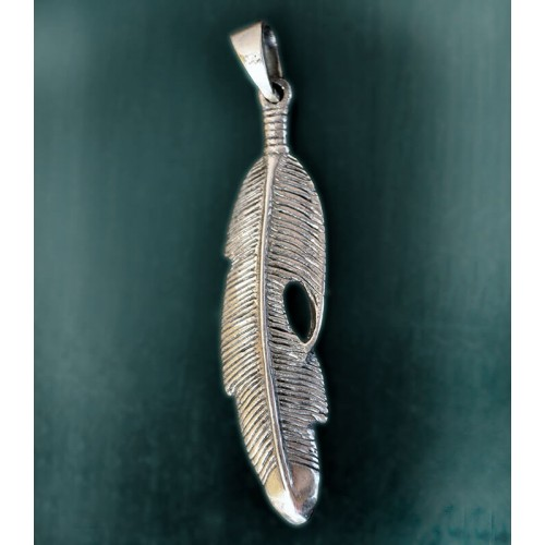 STERLING SILVER PENDANT FEATHER