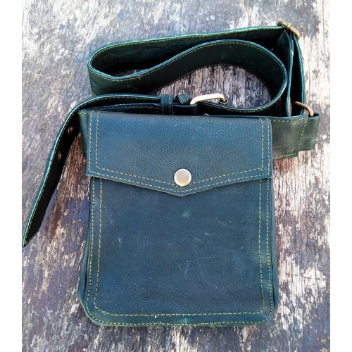 GENUINE LEATHER FANNY PACK SQUARE