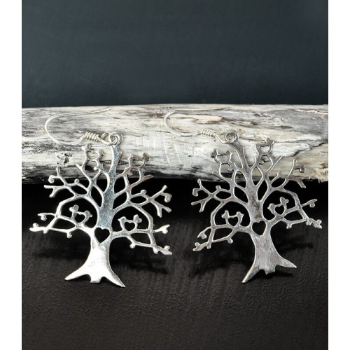 TREE OF LIFE EARRINGS SILVER