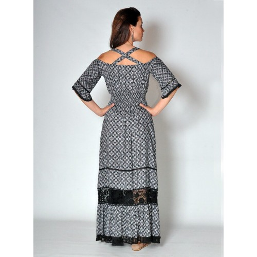 ROMANTIC LACE MAXI DRESS PRINT